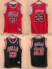 NWT Michael Jordan 23 Chicago Bulls Jersey Throwback Stitched Red Black