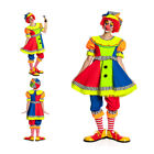 Clown Kostüm Damen + Clown Mütze Clownkostüm Clownskostüm NEU 36 38 40 42 44 46