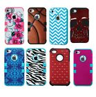 Apple iPhone 4 4s Case Hard Rubber Shell Hybrid Cute Protective Defender Case