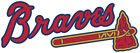 Atlanta Braves Text logo Vinyl Decal / Sticker 5 Sizes!!! on Ebay