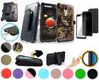 "for 5"" LG Aristo 2 TRIBUTE DYNASTY Case 360° Cover Screen Protector Clip Holster"