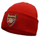 Mens Arsenal Football Club Bronx Crest Cuffed Knit Beanie Hat One Size