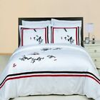 Graceful and Cozy Florence Embroidered 100% Cotton 3-Piece Duvet Cover Set