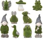 New Gnome Novelty Flocked Stone Effect Garden Patio Ornament Animals Outdoor
