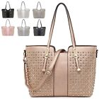 Ladies Faux Leather Diamante Studded Evening Party Shoulder Bag Handbag MA36122