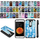 For LG K7 Tribute 5 LS675 MS330/ M1 Hybrid Bumper Protective Case Cover + Pen