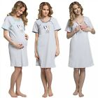 Happy Mama. Women's Maternity Nursing Breastfeeding Nightdress Shirt Gown. 979p