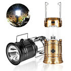 Gold Lantern Solar Led Rechargeable Torch Tent Portable 13w Light Camping Power