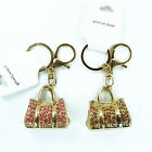 Lovely Package Keychain Rhinestone Crystal Keyring Key Ring Charm Pendant