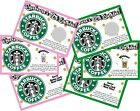 STARBUCKS PERSONALIZED SCRATCH OFF OFFS BIRTHDAY PARTY GAME GAMES CARDS FAVORS