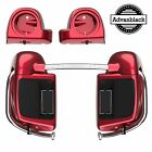 Velocity Red Sunglo Lower Vented Fairings fit 2014-2018 Harley FLHR FLHXS FLTRX