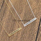 Moon Phase Clavicle Necklace Rectangle Pendant Wiccan Jewelry Gift Silver Gold