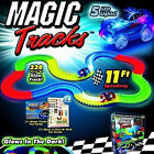 MAGIC TRACKS 220 Glow in the Dark LED LIGHT UP RACE CAR Bend Flex Racetrack Toy