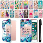 "For Apple iPhone 8 Plus / 7 Plus 5.5"" Pineapple Clear Soft TPU Case Cover + Pen"