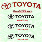 TOYOTA X 8 Brake Caliper Decal Sticker Emblem Logo Vinyl High Temperature II A