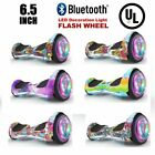 6.5 inch Flashing Wheel Hoverboad, Printing Coating Electric Scooter UL listed