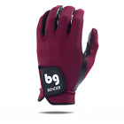 BENDER COLOR GOLF GLOVE ● Maroon (Red) Spandex - Cabretta Leather