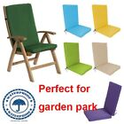 Highback Garden Dining Chair Cushion Pad Outdoor Furniture High Back Recliner RB