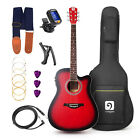 Vangoa 41 inch Full size Acoustic Electric Cutaway Guitar Starter Kit 4 Band EQ <br/> From US ✔ Free Shipping ✔ High Quality ✔ 4 Colors ✔