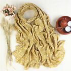 Women Embroidery Cotton Scarf Floral Summer Long Soft Sunscreen Shawl Wrap