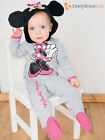 Disney Baby Mickey Mouse Minnie Romper + Hood Toddler Fancy Dress Costume Outfit
