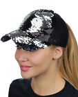 NEW! C.C Ponycap Messy Bun Reversible Magic Sequin Adjustable Ponytail CC Cap
