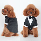 Pet Dog Puppy Tuxedo Bow Tie Shirt Wedding Formal Dress Suit Costume Clothes Top