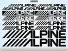 ALPINE ELECTRONICS Stickers Decals Vinyl Cars Tuning Stereos