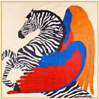 "Fashion Feather Zebra Women's Printed Head Silk Scarf Square Large Shawl 39""*39"""