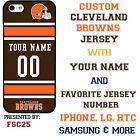 Cleveland Browns NFL Phone Case Cover for iPhone 7 PLUS iPhone 6s iPhone 5 etc