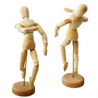 1X Movable Flexible Wooden Art Figure Mannequin Sketch Puppet Doll Model DIY Toy