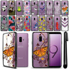 "For Samsung Galaxy S9 Plus / S9+ 6.2"" Hybrid Clear Black Bumper Case Cover + Pen"