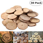 30-120 Wood Tree Slices 3-9cm Rustic Wedding Table Craft Decor Natural logs Eco