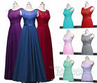 Lace Long Formal Chiffon Party Evening gown Bridesmaid Prom Dress Plus size