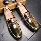 Mens Breathable Bling Bling Slip On Casual Loafers Sport Size Shoes British New