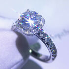 Luxury Round Cut 5CT 11mm Moissanite Engagement Ring Classic DEF 14K White Gold