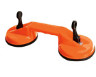 DUAL SUCTION CUP ALUMINIUM GLASS LIFTER SUCKER PAD CARRYING GRABBING PULLER