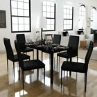 black breakfast table - Modern Dining Table and Chair Set Breakfast Dinning Room Kitchen Home Furniture
