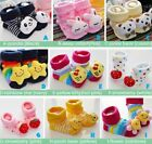 Brand New Cute Cotton Baby Boy Girl 3D Animal Booties Baby Socks for 0-12mths