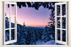 3D Window Effect on Canvas Vancouver Island Canada Winter Picture Wall Art Print