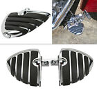 """1-1/4"""" Engine Guards Dually Highway Foot Pegs Footrests For Harley Davidson"""