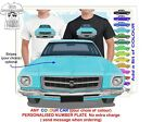 HQ HOLDEN MONARO 71-74 FRONT CLASSIC ILLUSTRATED T-SHIRT MUSCLE RETRO CAR