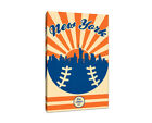New York Mets Vintage Baseball Canvas on Ebay