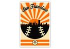 San Francisco Giants Vintage Baseball Poster on Ebay
