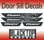 NEW! Dodge Dart SXT Vinyl Door Sill Decals 2013 2014 2015 2016 $16.99 USD on eBay