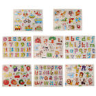 JQ_ 8 Patterns Wooden Peg Jigsaw Puzzles Baby Preschool Educational Toy Gift H