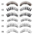 3D Triple Magnetic False Eyelashes Natural Eye Lashes Extension Handmade 4 Pcs