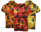 Mens Hawaiian Fancy Dress Beech Floral Shirt Holiday Short Sleeve Casual M-XXL