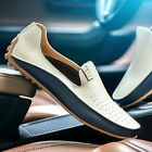 Mens Leather Driving Moccasins Shoes Slip On Loafers British Plus Size HOT 39-47