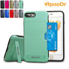 For iphone 7 8 / 8 Plus Shockproof Protective Wallet Cover Kickstand Armor Case